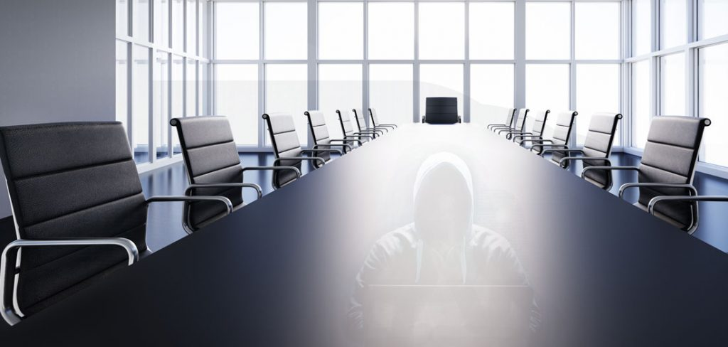 Table in meeting room of a general assembly.